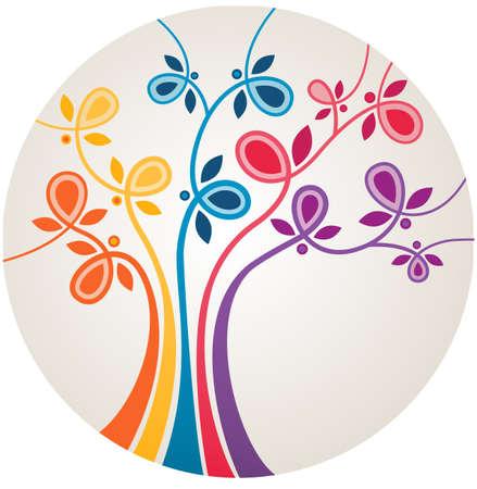 Multicolor abstrakten Baum
