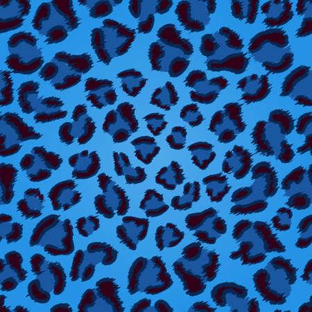 원활한 블루 표범 텍스처 패턴 일러스트