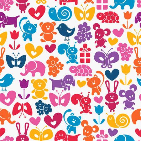 turtles love: Baby seamless wallpaper  Illustration