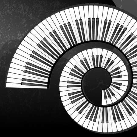 klavier: Abstrakter Hintergrund mit Klaviertasten EPS10 Vektor-Abbildung enth�lt Deckkraftmaske Illustration