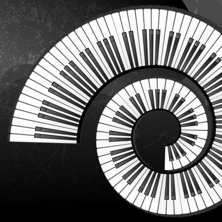 Résumé de fond avec touches piano illustration vectorielle EPS10 Contient masque d'opacité