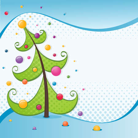 Stylized Christmas tree illustration for Christmas Card  EPS 10 vector  Vector