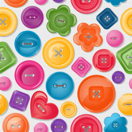 Seamless background with colorful buttons illustration  Vector
