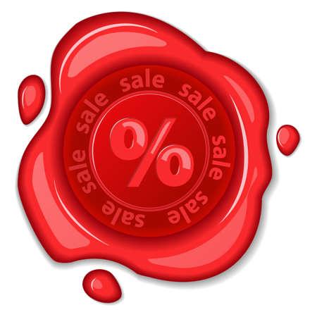 Sale wax seal  illustration  Vector