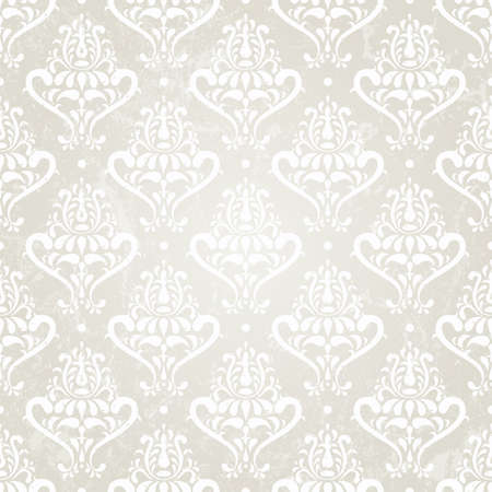 Silver vintage seamless wallpaper  illustration  Vector