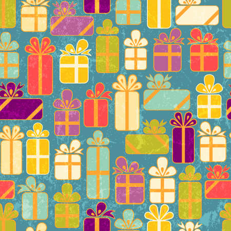 Seamless pattern with colorful gifts Stock Vector - 15065776
