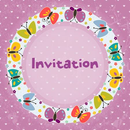 Invitation card for children s parties,  birthday, and other events Vector