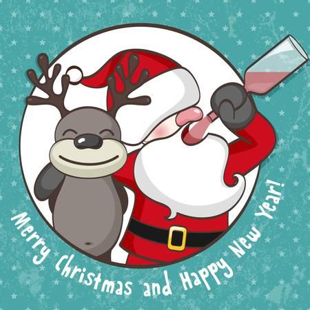 ubriaco: Babbo Natale con le renne