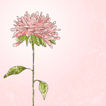 Hand drawn flower with grunge effect Stock Vector - 15256403