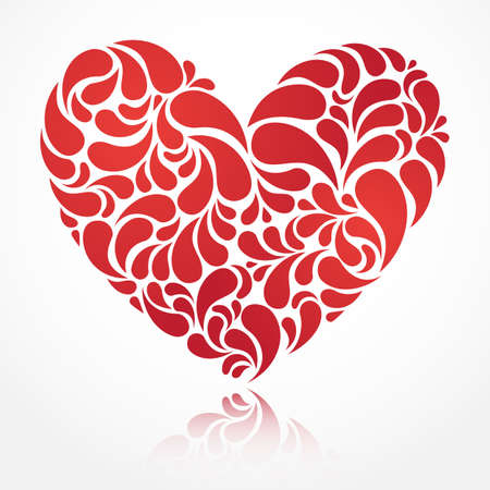 Vector heart illustration for Valentine s Day design  EPS 10  Stock Vector - 15514508