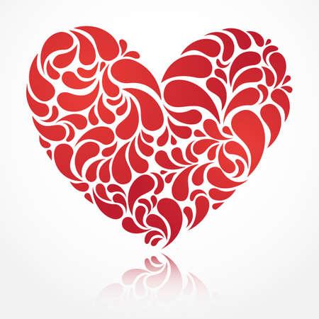 Vector heart illustration for Valentine s Day design  EPS 10 Stock Vector - 15514508