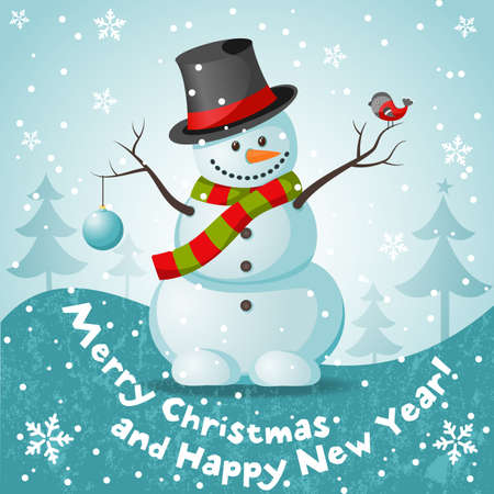 Vector snowman vector illustration for Christmas design