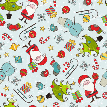 Christmas seamless background illustration contains transparency effects  Vector