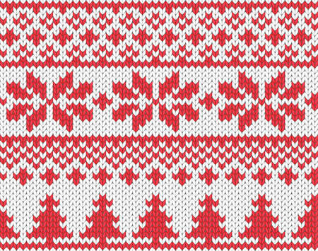 Christmas seamless knitted background Vector