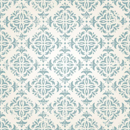 Vintage seamless wallpaper vector illustration   Grunge effect can be removed Stock Vector - 16427797