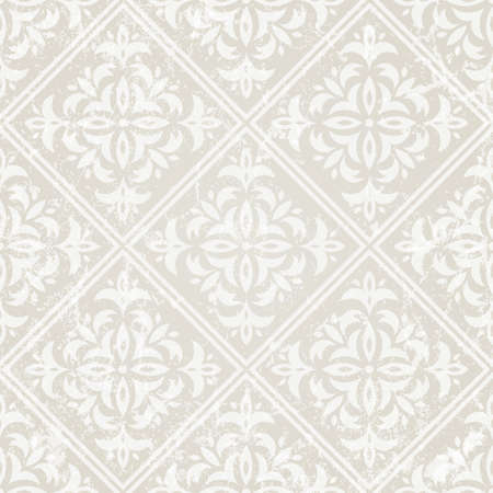 Silver vintage seamless wallpaper vector illustration  Grunge effect can be removed  Vector