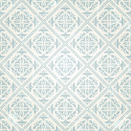 removed: Retro seamless wallpaper vector illustration   Grunge effect can be removed  Illustration