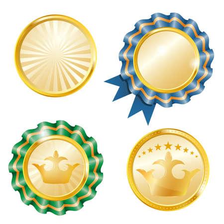 awarding: gold medals set