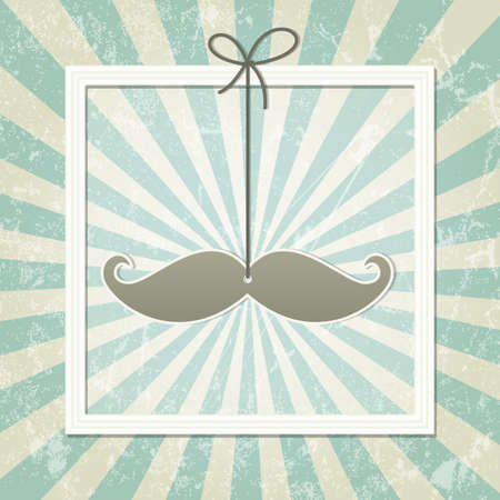 Mustache retro background  Vector