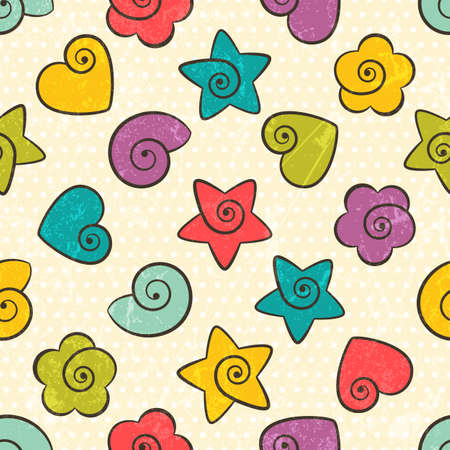 Seamless texture with color  shapes  EPS 10 vector illustration