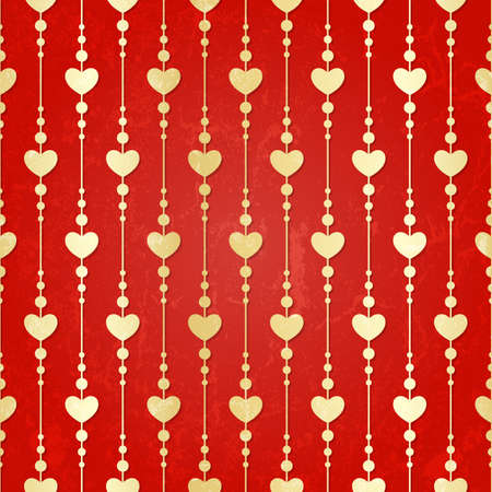 Valentine seamless hearts pattern   Stock Vector - 17541769