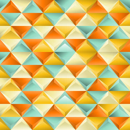 Abstract seamless patternwith triangles  EPS 8 vector illustration  Vettoriali