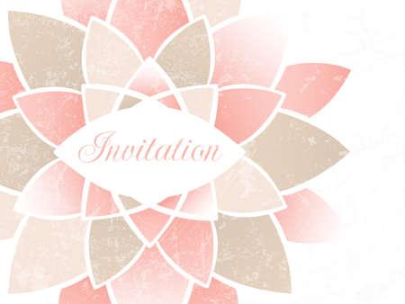 Wedding invitation card  EPS 10 vector illustration