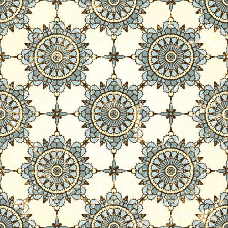 Retro seamless pattern  Grunge effect can be removed