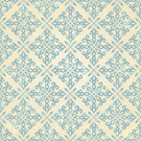 antique paper: Vintage seamless pattern   illustration
