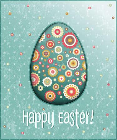 easter egg card  illustration  Stock Vector - 18230418