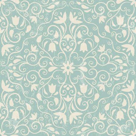 Seamless floral background  EPS 10 vector illustration  Grunge effect can be removed  Illustration