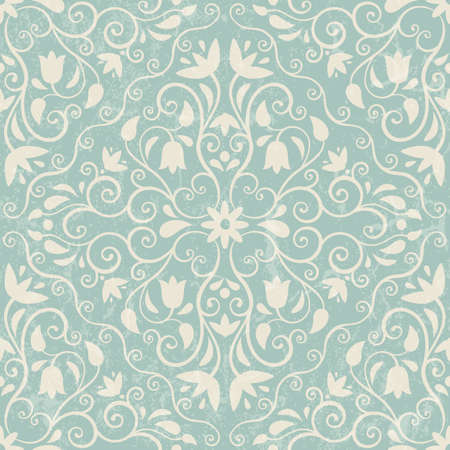Seamless floral background  EPS 10 vector illustration  Grunge effect can be removed  Vettoriali