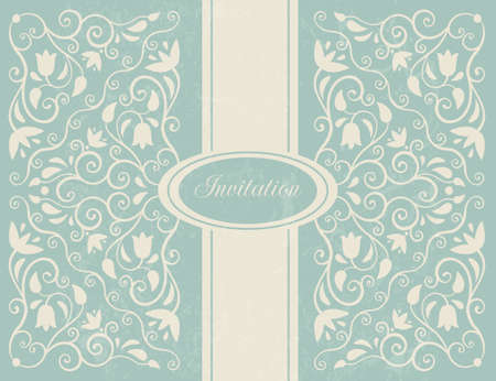 baroque background: Ornate floral backgroung  Perfect as wedding invitation  EPS 10 vector illustration  CMYK