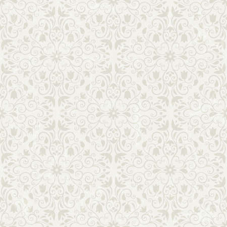 Seamless floral wallpaper  EPS 10 vector illustration  Grunge effect can be removed Stock Vector - 18592462