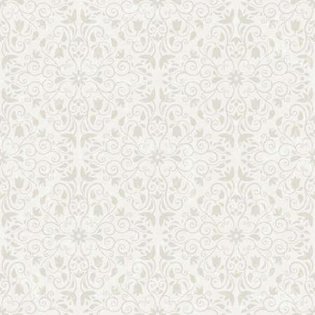 whorls: Seamless floral wallpaper  EPS 10 vector illustration  Grunge effect can be removed  Illustration