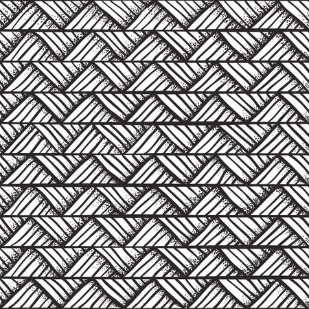 Hand drawn monochrome seamless pattern vector illustration  Vector