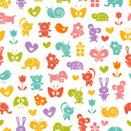 Baby seamless background  illustration  Vector