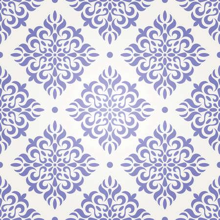 Retro seamless wallpaper in gzhel style vector illustration Stock Vector - 20694632