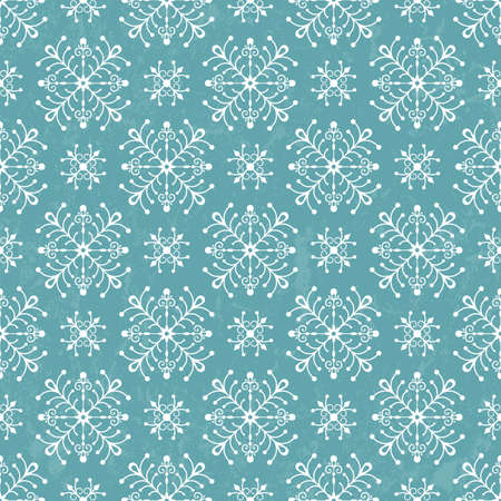 Seamless card with stylized Christmas snowflakes   vector illustration  Vector