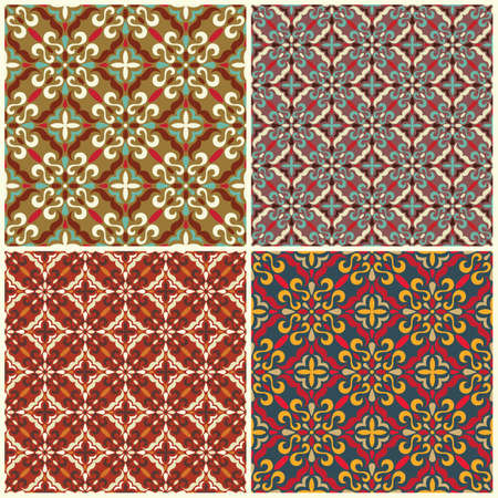 tapis: Set of traditional seamless patterns Each pattern is isolated on a separate layer