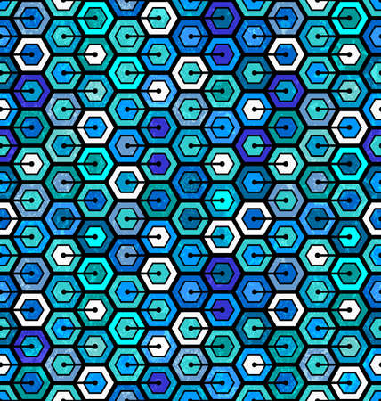 Seamless geometric pattern with hexagons  Abstract background   Stock Photo - 21580116