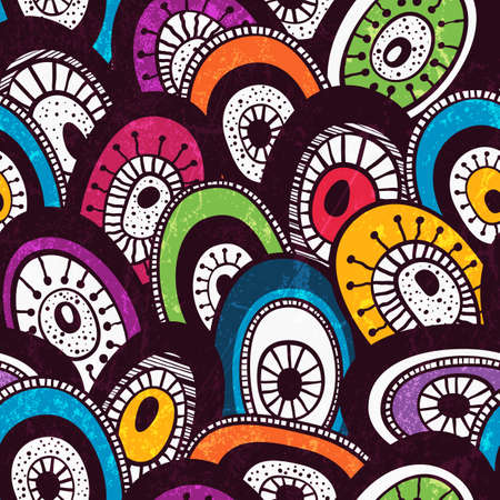 Colorful  hand-drawn pattern. Abstract seamless background.  Stock Vector - 21580137