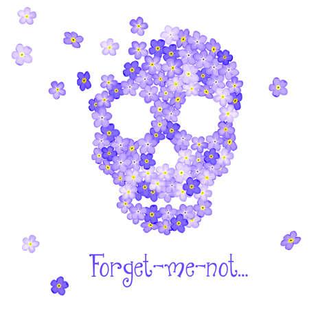 Floral Human skull Stock Vector - 21885109