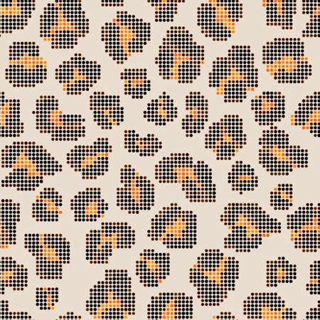 Leopard halftone background. Seamless texture.