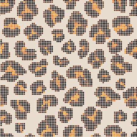 Leopard halftone background. Seamless texture.