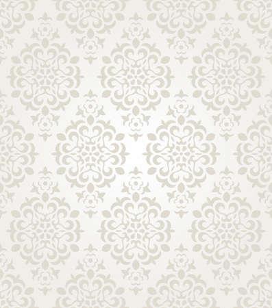 antiek behang: Floral vintage behang. Naadloze achtergrond.