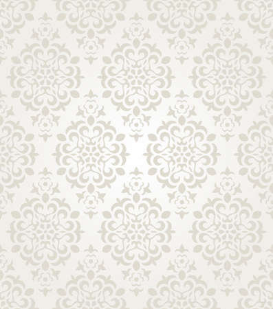 Floral vintage wallpaper. Seamless background.  矢量图像