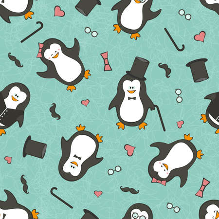 funny penguins.   Vector