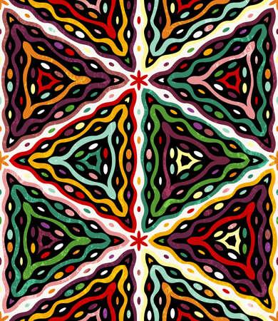 Seamless ethnic pattern. Grunge effect can be removed. Vektorové ilustrace