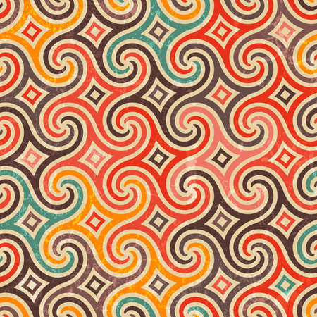 Retro pattern with swirls.  Vector